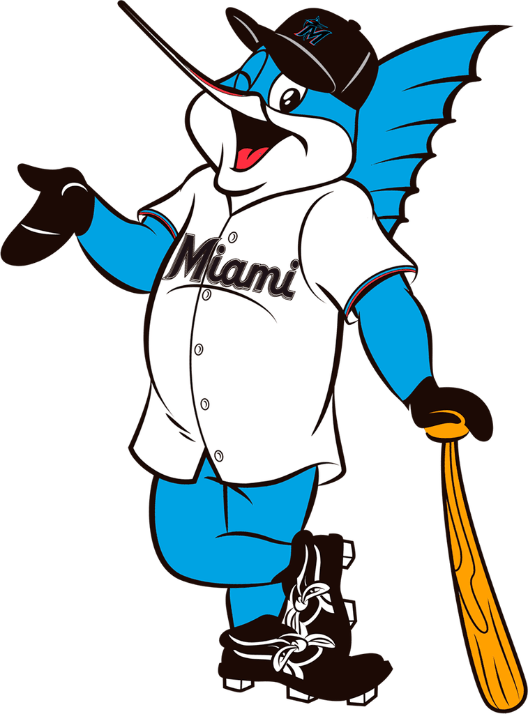 Image of Billy the Marlin official mascot of Miami marlins, without background